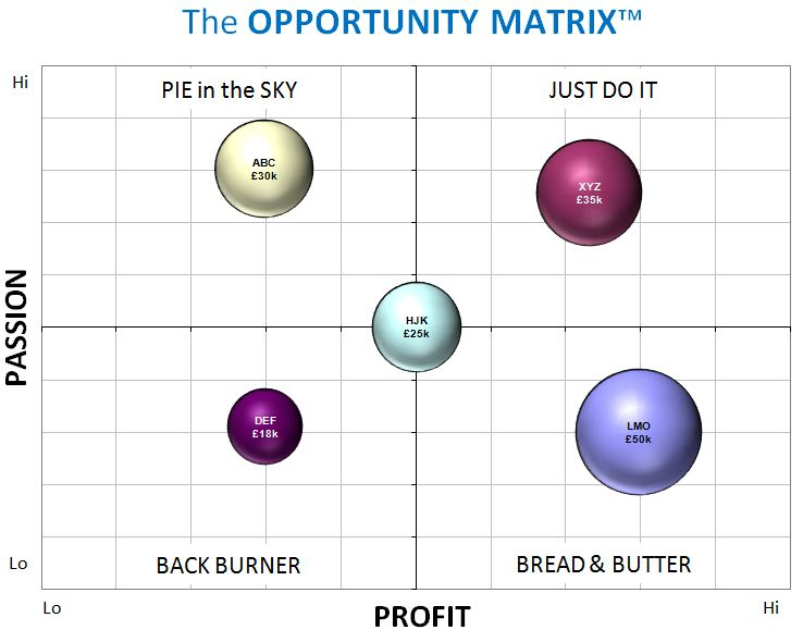 Opportunity Matrix decision tool grid